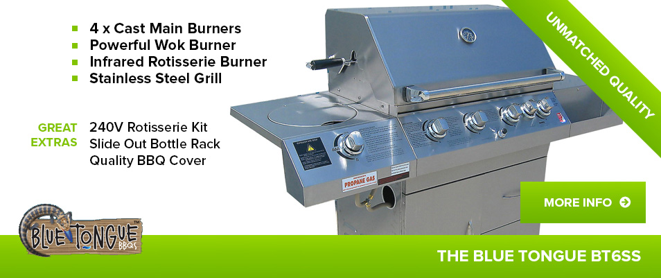 BlueTongue BT6SS 6 Burner BBQ