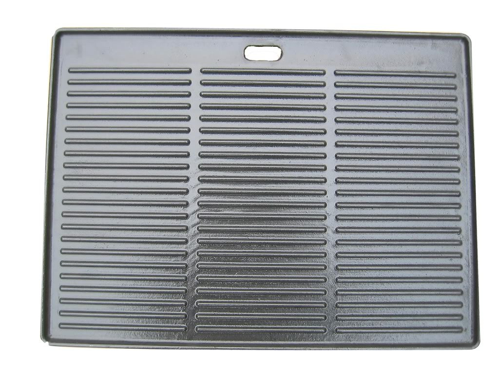 BlueTongue BT8SS Cast Iron/Enamel Grill - Double side - Smooth and Ribbed