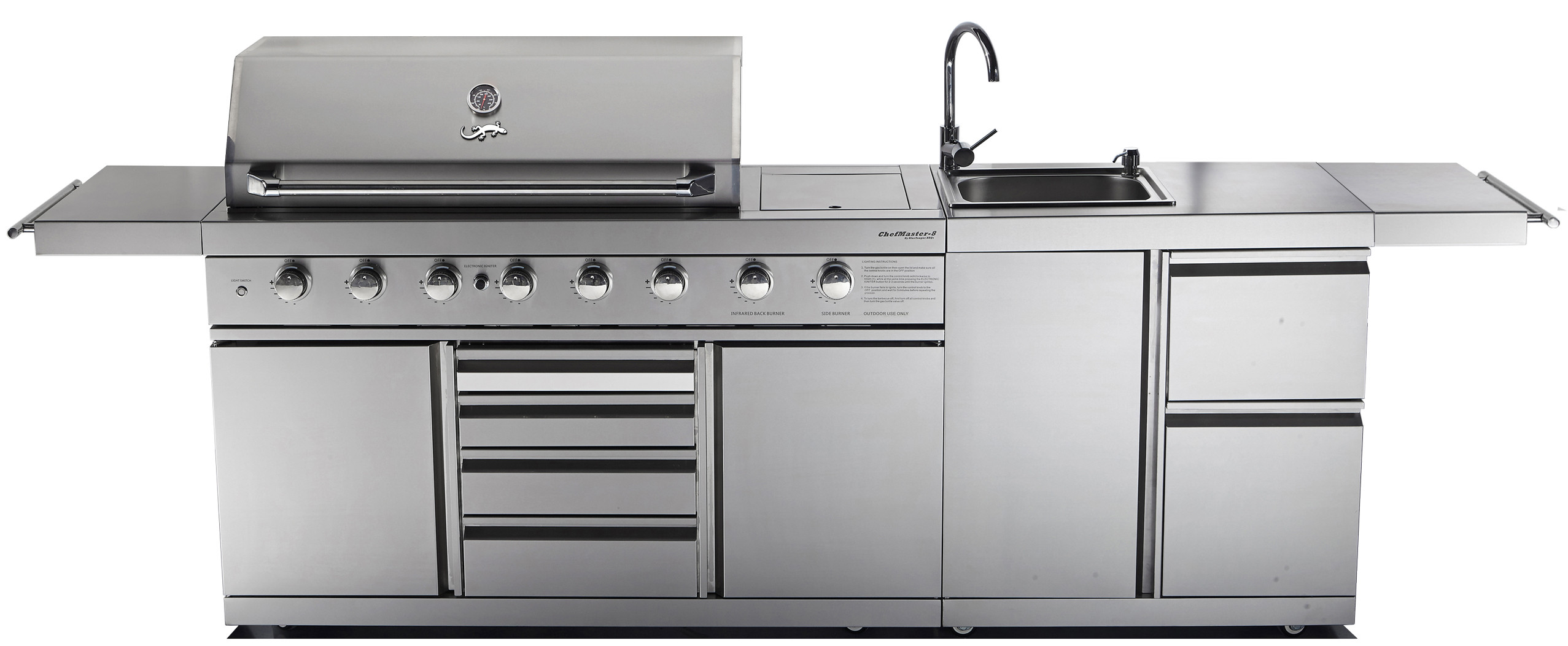 Chefmaster Galley Series Cg K8 Bbq Sink Combo Blue Tongue Bbqs Online Shop