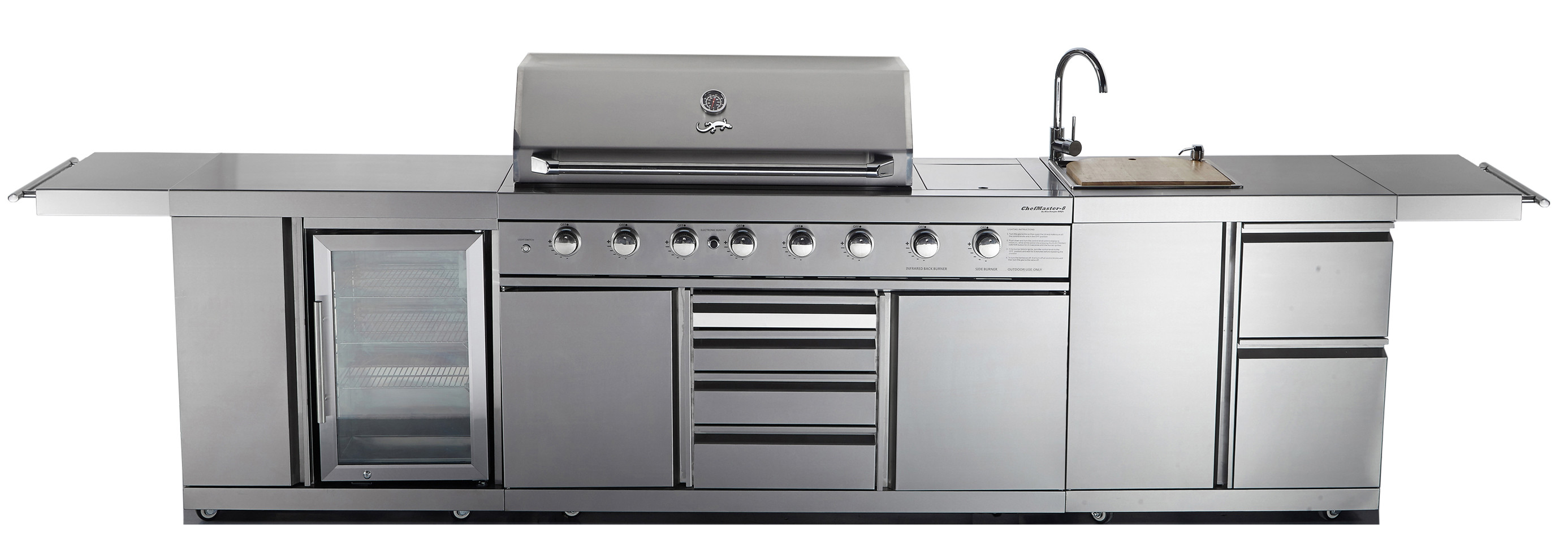 Outdoor Kitchen Chefmaster Galley Series Bbq Fridge Sink Combo Blue Tongue Bbqs Online Shop