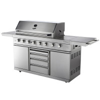 ChefMaster-8 Six+Two Burner BBQ -  $3495.00